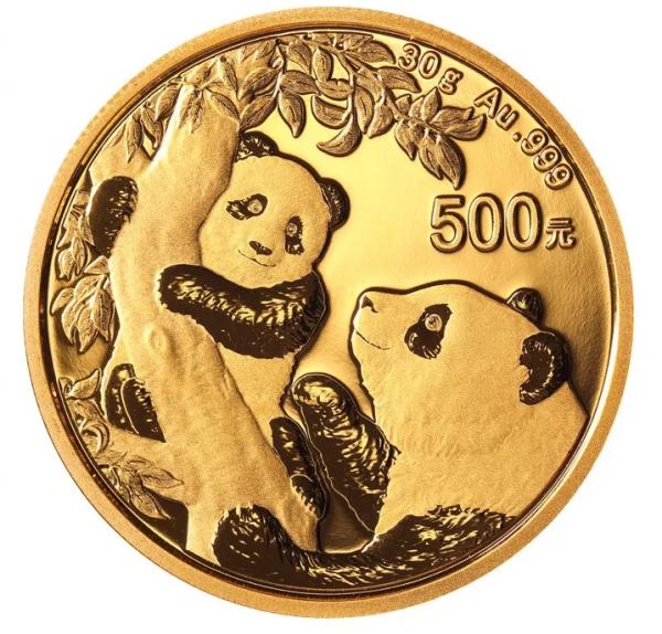 500 Yuan China - Panda 30 g Goldmünze (2021)